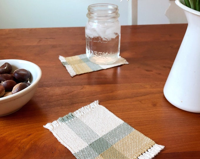 Handwoven Fall Cotton Coasters