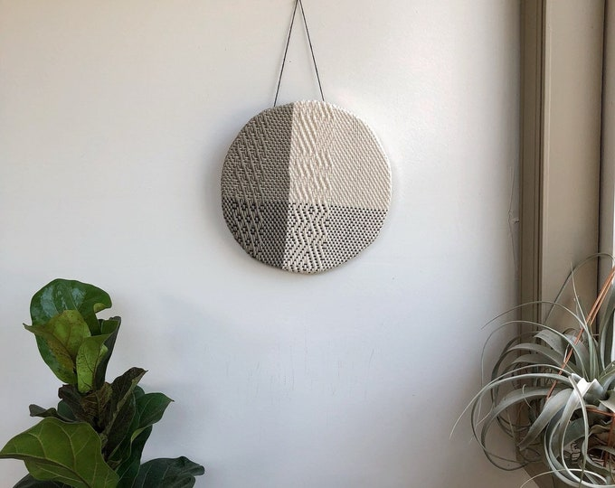 Round Woven Cotton Wall Hanging