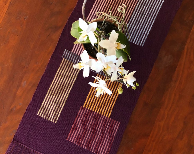 Woven (Eggplant) Stretched Stack Table Topper