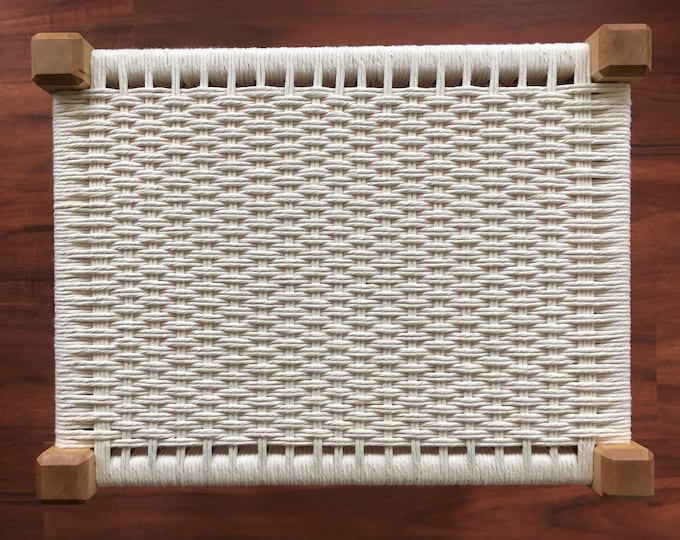 Handwoven Cotton Bench