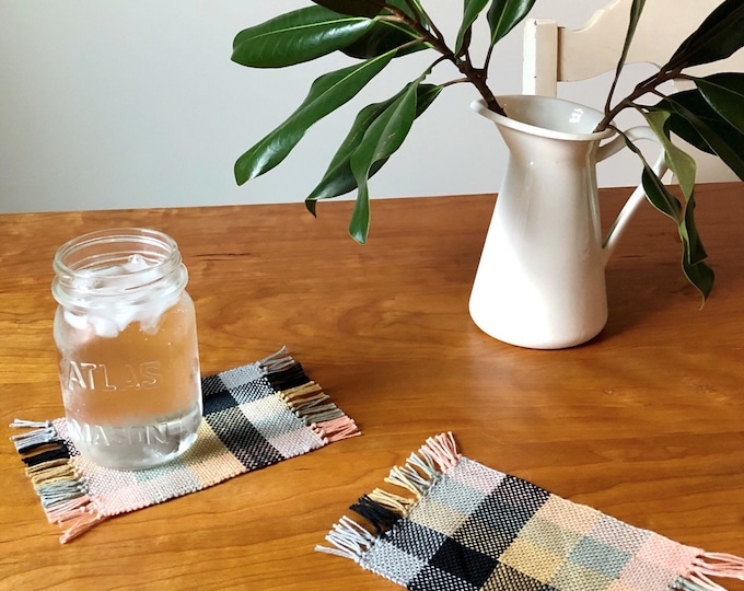 Handwoven Color Study Cotton Coasters