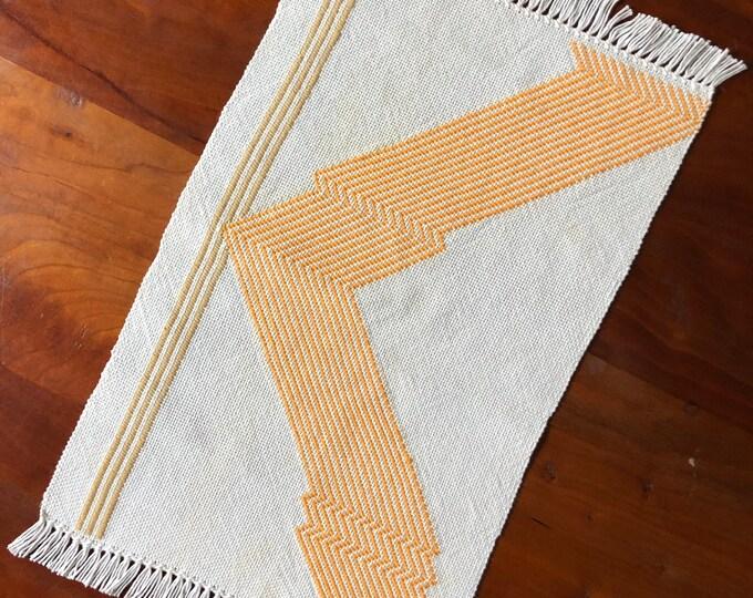 Woven Lightening Stripe Table Topper