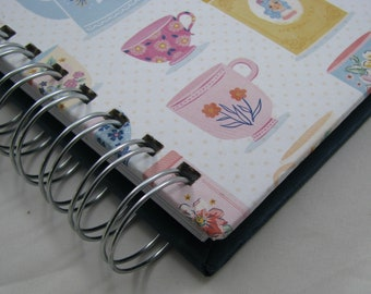 Quilter's Journal - Memory Book - Quilt Notebook - Quilt Journal - Quilt Notes - Quilt Story - Quilting Journal - Quilter's Gift - TeaCups