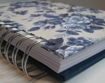 Address Phone Book - Unique Address Book - Address Book With Tab - Address Book - Email Address Book - Replacement Labels - Blue Rose Floral