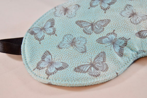 Aqua Butterfly Sleep Night Mask For Women Novelty Slumber Etsy