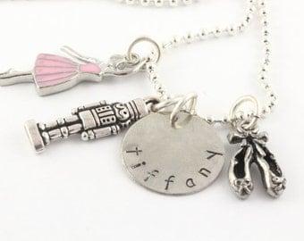 Nutcracker Charm Necklace - Nutcracker Gift - Ballet Necklace - Ballerina Necklace - Nutcracker Necklace - Personalized Necklace - Silver