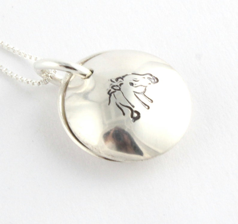 Personalized Necklace Horse Gift Sterling Silver Necklace Horse Necklace Horseback Rider Gift Locket Necklace -Birthstone Necklace