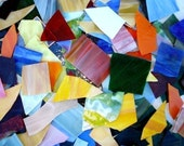 10 lb. Opalescent Scrap Glass -colored stained glass scrap MOSAIC.