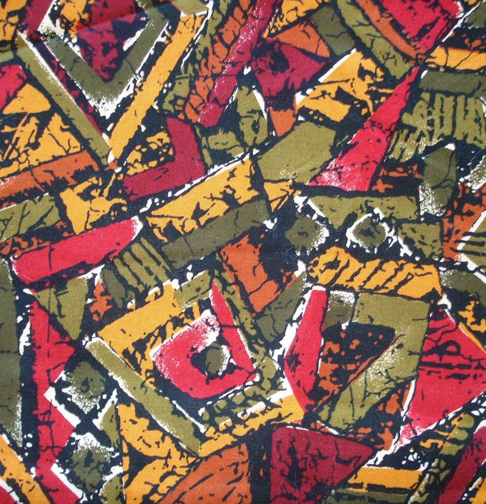 Vintage Robert Kaufman Fabric Geometric Pattern Batik