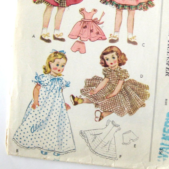 "2 Antique Dolly/'s Dressmaker  9/"" doll wardrobe patterns 1886 No"