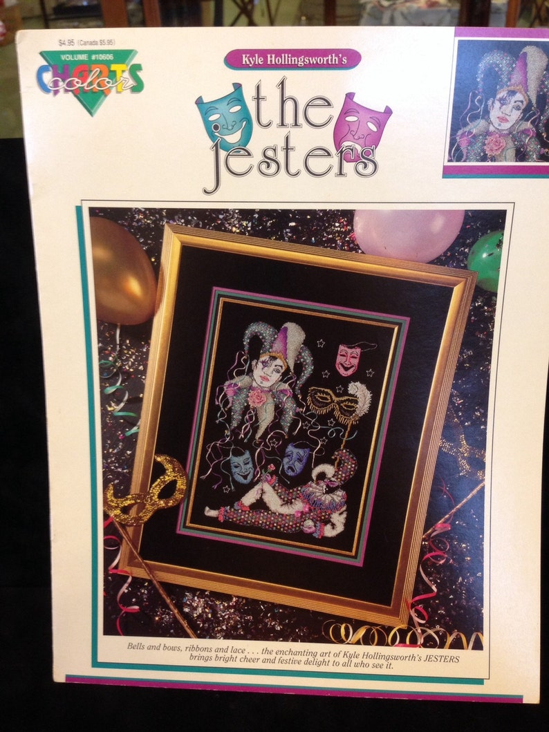The Jesters OOP Leaflet..Kyle Hollingsworth/'s Jesters...OOP ComedyTragedy Masks..Masks..Jesters..OOP Leafler