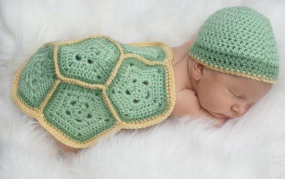 Baby-Schildkröte häkeln Outfit... Neugeborenen set... | Etsy
