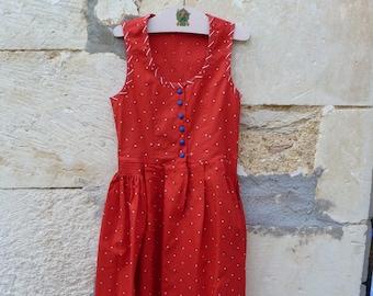 Vintage 1970/70s Authentic Girl Dirndl Tyrol Austria german Dress size 6 years