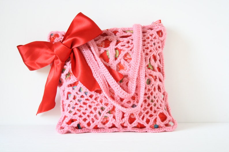 Crochet shoulderbag Pia image 0