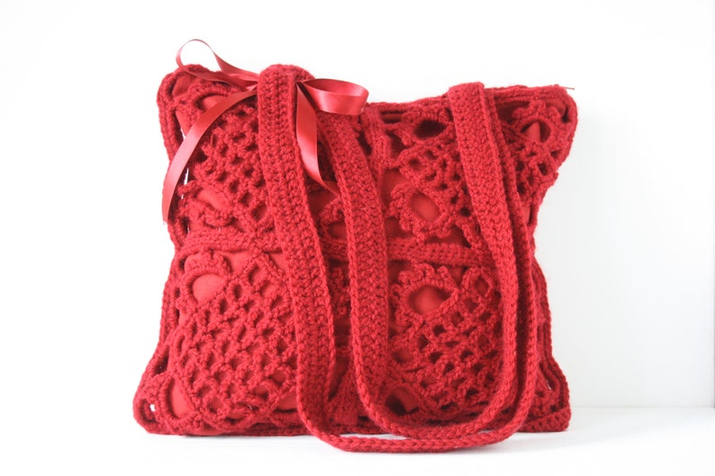 Crochet shoulderbag Robin image 0