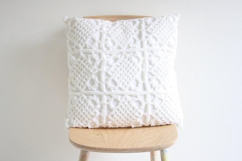 Big white crochet pillowcase image 0