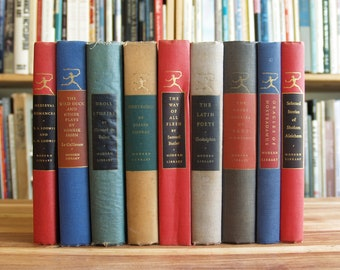 Collection of nine vintage Modern Library classics - Free US Shipping