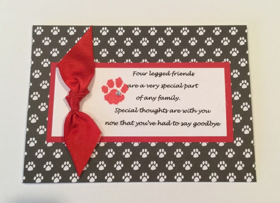 dog sympathy card pet sympathy card loss of pet etsy