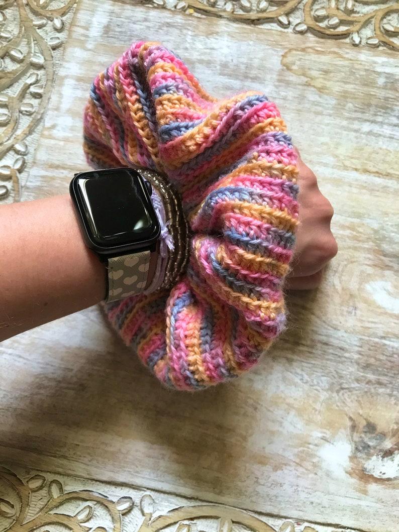 Sunset Jumbo Crochet Scrunchie