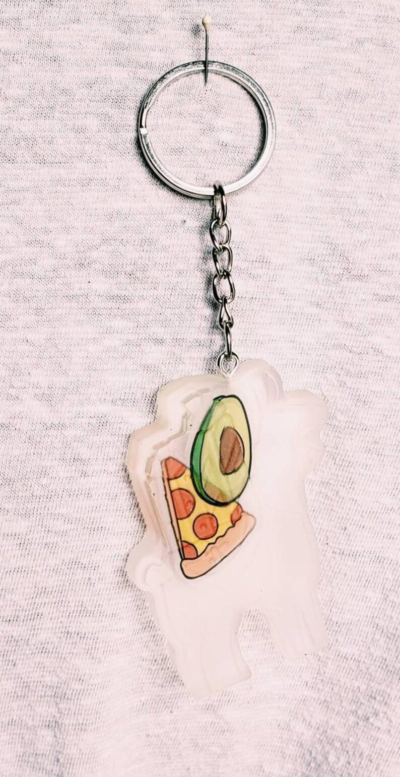 Food Llama Keychain Etsy