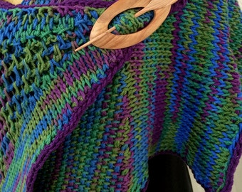 Pattern: Santa Fe Shawl - A Tunisian Crochet Pattern