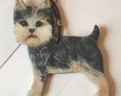 READY TO SHIP Yorkshire Terrier ornament - Yorkie Ornament - Hand Painted Dog Ornament - Dog Lover Ornament - Pet Loss Gift