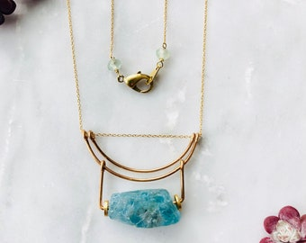 Apatite Nugget Necklace