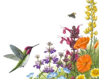 Wildflowers for Hana and Cooper - fine art giclee print