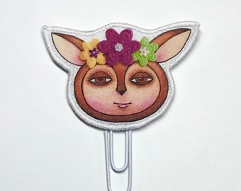 Spring Fawn Fabric Planner Clip
