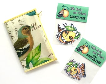 Little Birdy and Friends Die Cut and Sticker Packs