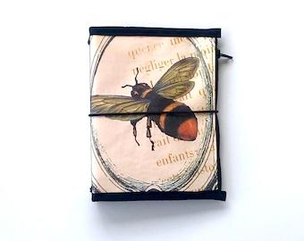 Travelers Notebook Cover and Matching Craft Folder Bundle Vintage Bee Design