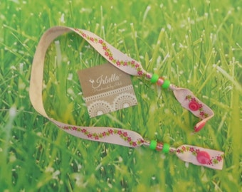 Floral Mask Holder with Snaps - Don't let them lose their mask - Hand Made in the USA