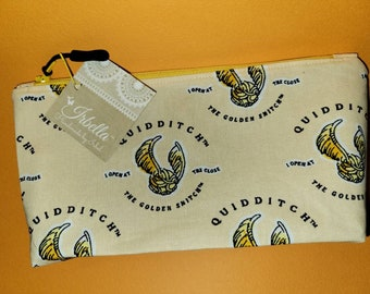 Pencil Case or Make-up Zippered Pouch - Ready to Ship