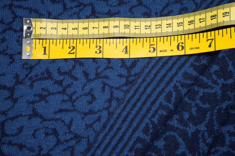 Jacquard knitwear Tendril bluedark blue Doubleface 0.54yd 0,5m