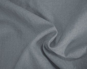 Damiel stone pure solid Linen Fabric 0.54yd (0.5m)