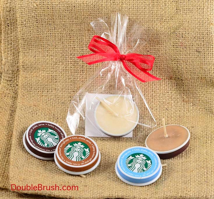 Starbucks Coffee Favor Upcycled Candle Recycled Starbucks Cap Etsy