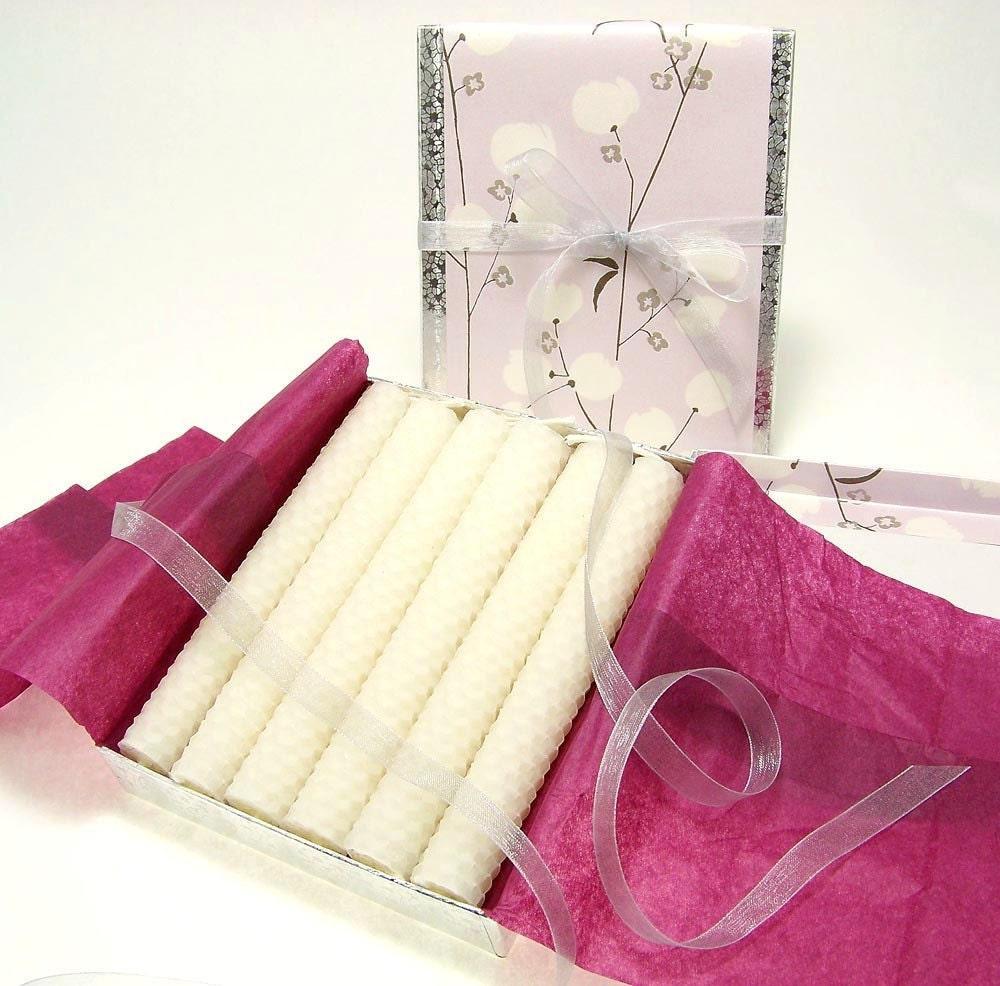 bougies de cire dabeille bougie blanche conique mariage etsy. Black Bedroom Furniture Sets. Home Design Ideas