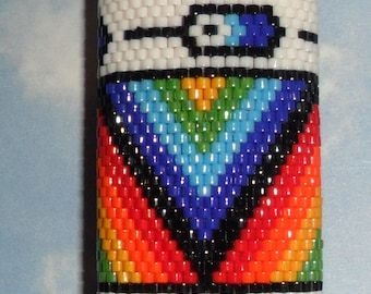 FEATHER Beaded  Lighter Cover