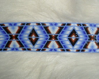 SAND OF TIME Beaded Cuff Bracelet