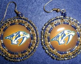 Nashville Predators  Beaded earrings