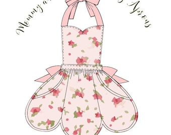 """Mommy and Me plus 18"""" Doll Everday Apron Set, Womens' One Size and Girls 3T through size 8"""