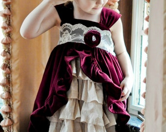 The Tea Party Dress PDF Pattern...Instant Download, 6 months through size 8