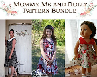 """Free 18"""" Dolly PDF with Mommy & Me Pattern Bundle ~"""