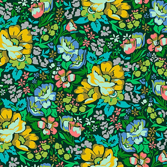 Anna Maria Horner PWAH083 Floral Retrospective Overachiever Velvet Fabric By Yd