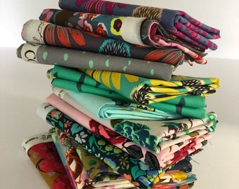 Anna Maria Horner, Fat Quarter Set of 16 prints from Field Study, Honor Role, Floral Retrospective, Pretty Potent, Mod Corsage, Loulouthi