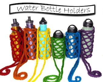 Water Bottle Sling, Over the Shoulder Beverage Carrier, ANY COLOR