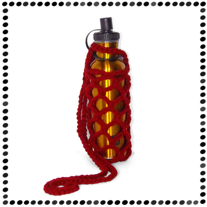 Water Bottle Sling Cherry Red or You Pick Color image 0