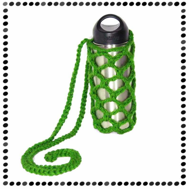 Green Water Bottle Sling Or choose ANY COLOR image 0