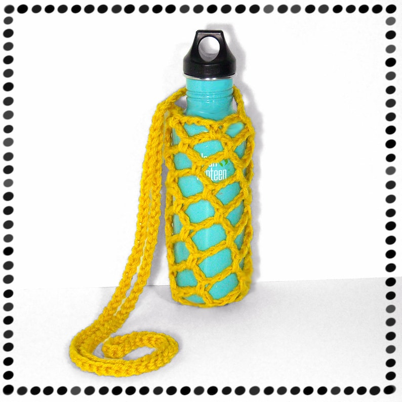 Water Bottle Sling Yellow or ANY COLOR image 0