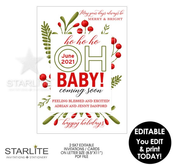 print baby announcement cards